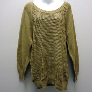 NWT Hurley Knit Top Sweater Olive Green